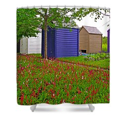 Every Garden Needs A Shed And Lawn In Les Jardins De Metis/reford Gardens-qc Shower Curtain by Ruth Hager