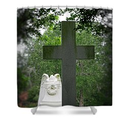 Shower Curtain featuring the painting Every Knee Shall Bow by Ella Kaye Dickey