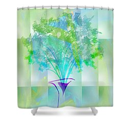 Shower Curtain featuring the digital art Everyday Bouquet by Frank Bright