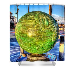 Shower Curtain featuring the photograph Everyone Is Welcome At The Beach by Jim Carrell