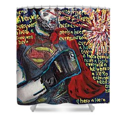 A Hero Shower Curtain