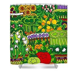 Eve's Garden Shower Curtain by Rojax Art