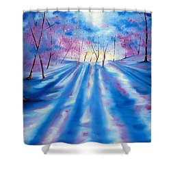 Shower Curtain featuring the painting Evident by Meaghan Troup