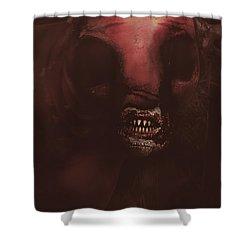 Evil Greek Mythology Minotaur Shower Curtain by Jorgo Photography - Wall Art Gallery