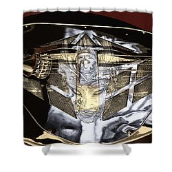 Evil Guitar In Color Tones Shower Curtain