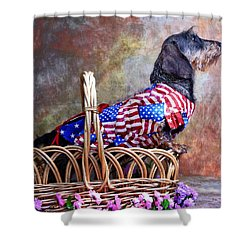 Shower Curtain featuring the photograph Evita by Jim Thompson