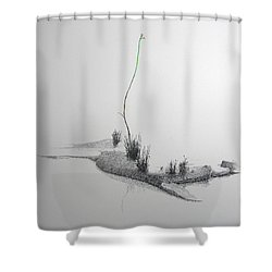 Evocation Shower Curtain by A  Robert Malcom