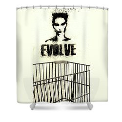 Evolution Gone Wrong Shower Curtain