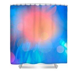 Evolution Orange Shower Curtain