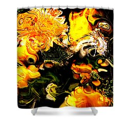 Shower Curtain featuring the digital art Ex Obscura by Richard Thomas