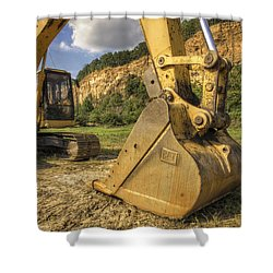 Excavator At Big Rock Quarry - Emerald Park - Arkansas Shower Curtain