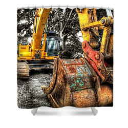 Excavator Shower Curtain