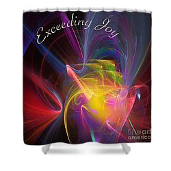 Exceeding Joy Shower Curtain by Margie Chapman