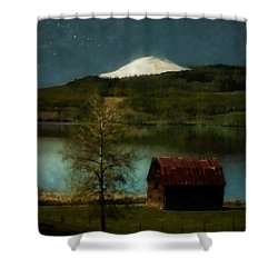 Excellence And Peace Shower Curtain by RC DeWinter