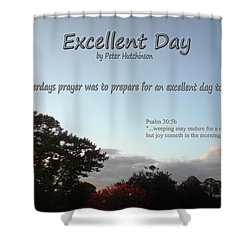 Excellent Day Shower Curtain