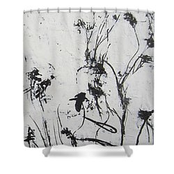 Excerpt 2 From Black And White 3 Shower Curtain