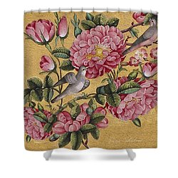 Excotic Camellias Shower Curtain