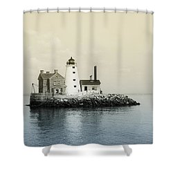 Execution Rocks Lighthouse New York  Shower Curtain by Bill Cannon
