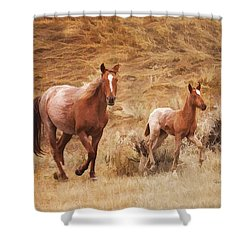 Exercise Shower Curtain