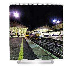 Exeter St Davids By Night  Shower Curtain by Rob Hawkins