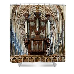 Exeter's King Of Instruments Shower Curtain