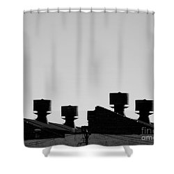 Exhausted Shower Curtain by James Aiken