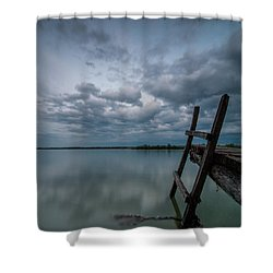 Exit Shower Curtain by Davorin Mance
