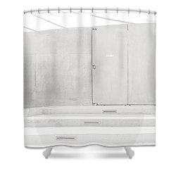 Exit Only Shower Curtain by Darryl Dalton