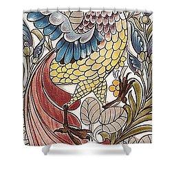 Exotic Bird Shower Curtain by William Morris