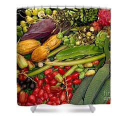 Exotic Fruits Shower Curtain by Carey Chen