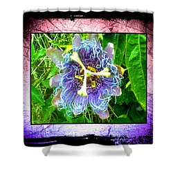 Shower Curtain featuring the photograph Exotic Strange Flower by Absinthe Art By Michelle LeAnn Scott