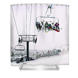 Experience Seven Springs Shower Curtain by Albert Puskaric