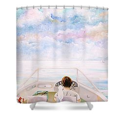 Exploring The World Shower Curtain