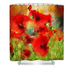 Explosions Galore Shower Curtain by Lourry Legarde