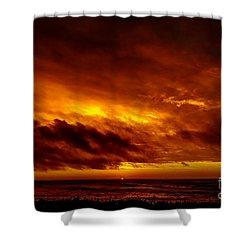 Explosive Morning Shower Curtain
