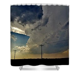 Explosive Texas Supercell Shower Curtain by Ed Sweeney