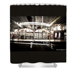 Shower Curtain featuring the photograph Explozoom On A French Carousel by Stwayne Keubrick