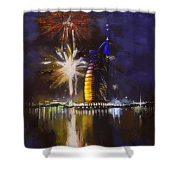 Expo Celebrations Shower Curtain by Corporate Art Task Force