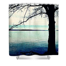 Shower Curtain featuring the photograph Exposed And Barren by Kelly Nowak