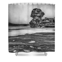 Exposed To Wind And Weather Shower Curtain by Hayato Matsumoto