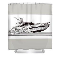 Express Sport Yacht Shower Curtain by Jack Pumphrey