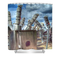 Exterminate - Exterminate Shower Curtain by MJ Olsen