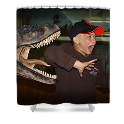 Extinct - My Ass Shower Curtain by Patrick Witz