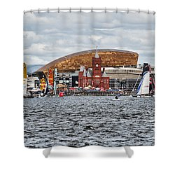 Extreme 40 At Cardiff Bay Shower Curtain