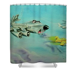 Extreme Airline Mergers Shower Curtain