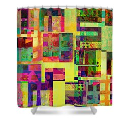 Extreme Color  Abstract Art  Shower Curtain by Ann Powell