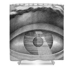 Eye Enclosing The Theatre At Besancon France Shower Curtain by Claude Nicolas Ledoux