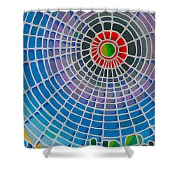 Shower Curtain featuring the digital art Eye Of God by Anthony Mwangi