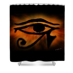 Eye Of Horus Eye Of Ra Shower Curtain by John Wills