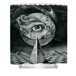 Eye Of The Dark Star Shower Curtain by Otto Rapp
